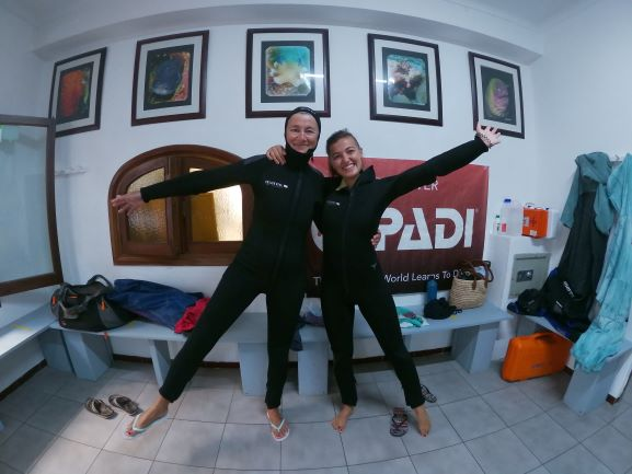 First dive with my daughter Matilda...
