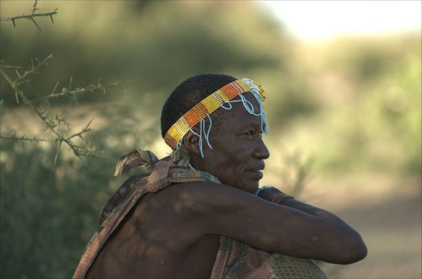 Hadza, resting after hours of walking and hunting.