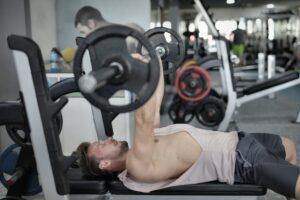 lifting heavy weights bench press