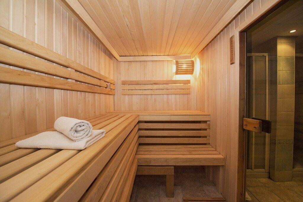 sauna heat therapy house